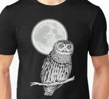 owl animal night moon dark wild illustration Unisex T-Shirt