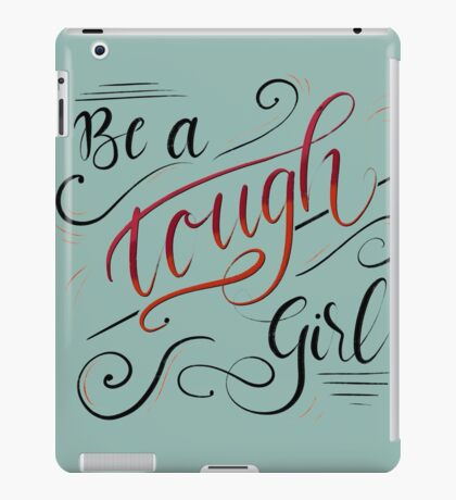 Touch Girl - Lettering Design  iPad Case/Skin