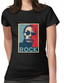 Rock for President 2020 Womens Fitted T-Shirt