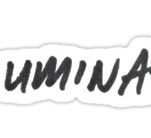written illuminate sticker Sticker