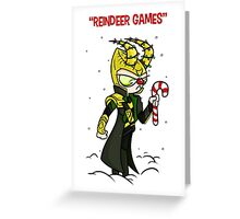 Reindeer Games - Loki Greeting Card