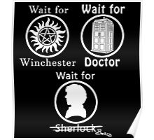 SuperWhoLock - White Poster