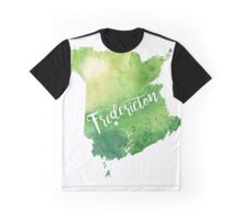New Brunswick Watercolor Map - Fredericton Hand Lettering - Giclee Print of Original Art Graphic T-Shirt
