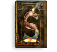 Steampunk - Alphabet - S is for Steam Canvas Print