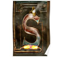 Steampunk - Alphabet - S is for Steam Poster
