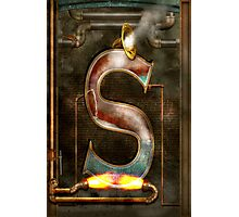 Steampunk - Alphabet - S is for Steam Photographic Print