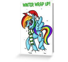 Winter Wrap Up! - Rainbow Dash Greeting Card