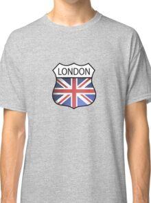 A London Souvenir with the Union Jack. Classic T-Shirt
