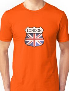 A London Souvenir with the Union Jack. Unisex T-Shirt