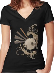 Pearl of the sea Women's Fitted V-Neck T-Shirt