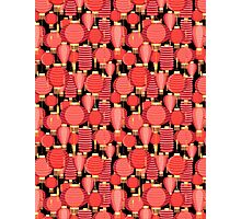 Bright pattern with red lanterns Photographic Print