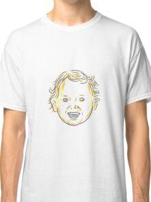 Caucasian Toddler Smiling Drawing Classic T-Shirt