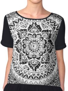 Yin Yang Mandala Pattern Chiffon Top