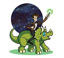 Doctor on a Dinosaur by mortiwear