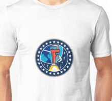 Pipe Wrench Rocket Booster Orbit Earth Circle Retro Unisex T-Shirt