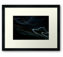 Loops of light (canvas optimized) Framed Print