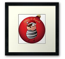 Bauble and Squeak - Christmas Emo Hamster Framed Print