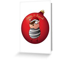 Bauble and Squeak - Christmas Emo Hamster Greeting Card