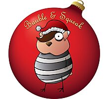 Bauble and Squeak - Christmas Emo Hamster Photographic Print
