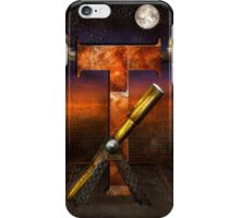 Steampunk - Alphabet - T is for Telescope iPhone Case/Skin
