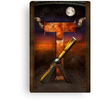 Steampunk - Alphabet - T is for Telescope Canvas Print