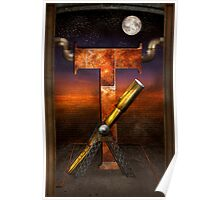 Steampunk - Alphabet - T is for Telescope Poster