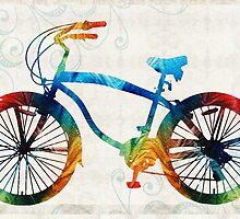 Colorful Bike Art - Free Spirit - By Sharon Cummings by Sharon Cummings