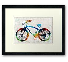 Colorful Bike Art - Free Spirit - By Sharon Cummings Framed Print