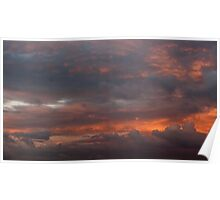 Sky clouds beauty Poster