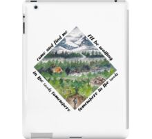 In the woods somewhere iPad Case/Skin