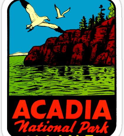 Acadia National Park Maine Vintage Travel Decal Sticker