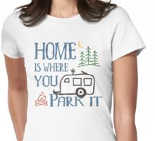 RV Camping Home Womens Fitted T-Shirt