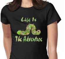 Life Is Adventure Watercolor Womens Fitted T-Shirt