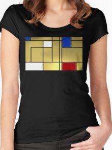 Tribute composition to Piet Mondrian Women's Fitted Scoop T-Shirt