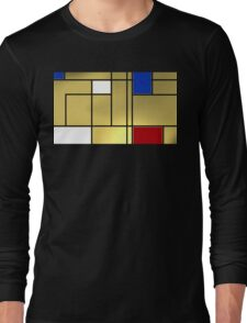 Tribute composition to Piet Mondrian Long Sleeve T-Shirt