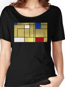 Tribute composition to Piet Mondrian Women's Relaxed Fit T-Shirt