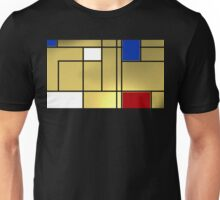 Tribute composition to Piet Mondrian Unisex T-Shirt