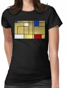 Tribute composition to Piet Mondrian Womens Fitted T-Shirt