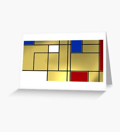 Tribute composition to Piet Mondrian Greeting Card