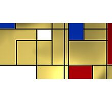 Tribute composition to Piet Mondrian Photographic Print