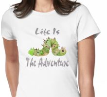 Life Is The Adventure Watercolor Womens Fitted T-Shirt