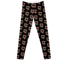 Christmas Candy Cane Heart Leggings