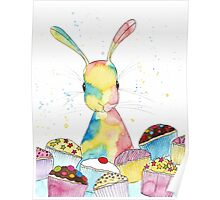 Baking Bunny by Peppermint Art Poster