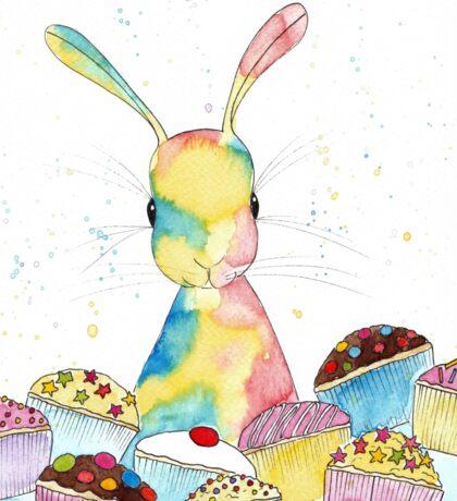 Baking Bunny by Peppermint Art Sticker
