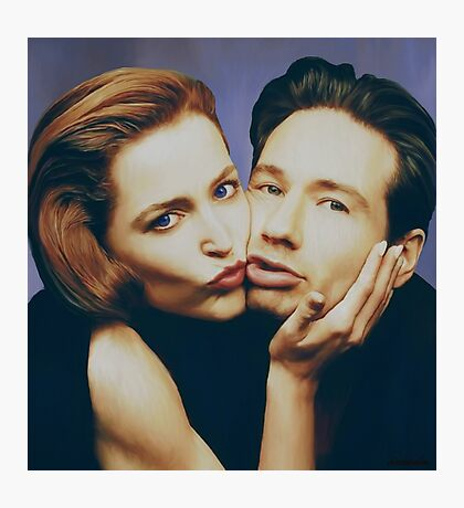 The Schmoopies - Gillian and David painting Photographic Print
