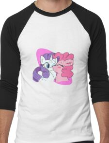 Pinkie Pie and Rarity Smooches Men's Baseball ¾ T-Shirt