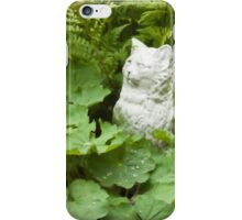 Cat Among The Lady's Mantel And Ferns - Digital Oil Art Work  iPhone Case/Skin