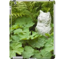 Cat Among The Lady's Mantel And Ferns - Digital Oil Art Work  iPad Case/Skin