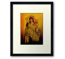 Woman with Pot Framed Print