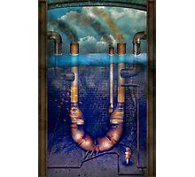 Steampunk - Alphabet - U is for Underwater Utopia Photographic Print
